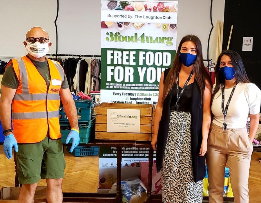 HRS team members volunteering at Essex food bank