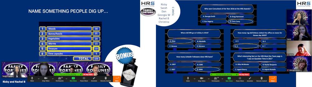 HRS team virtual quizzes