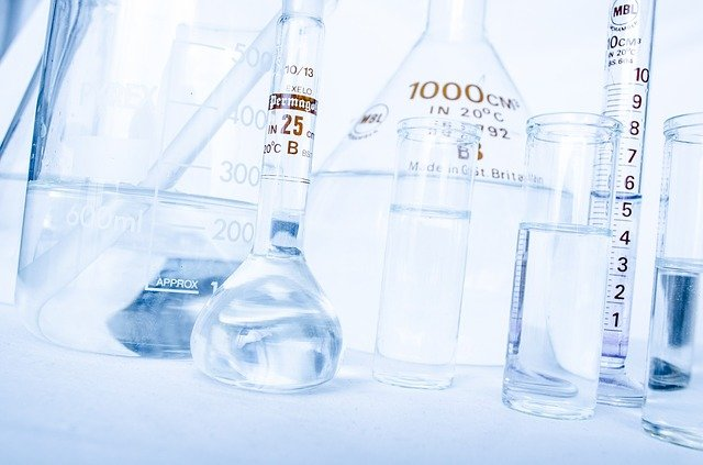 Chemistry flasks, beakers and test tubes